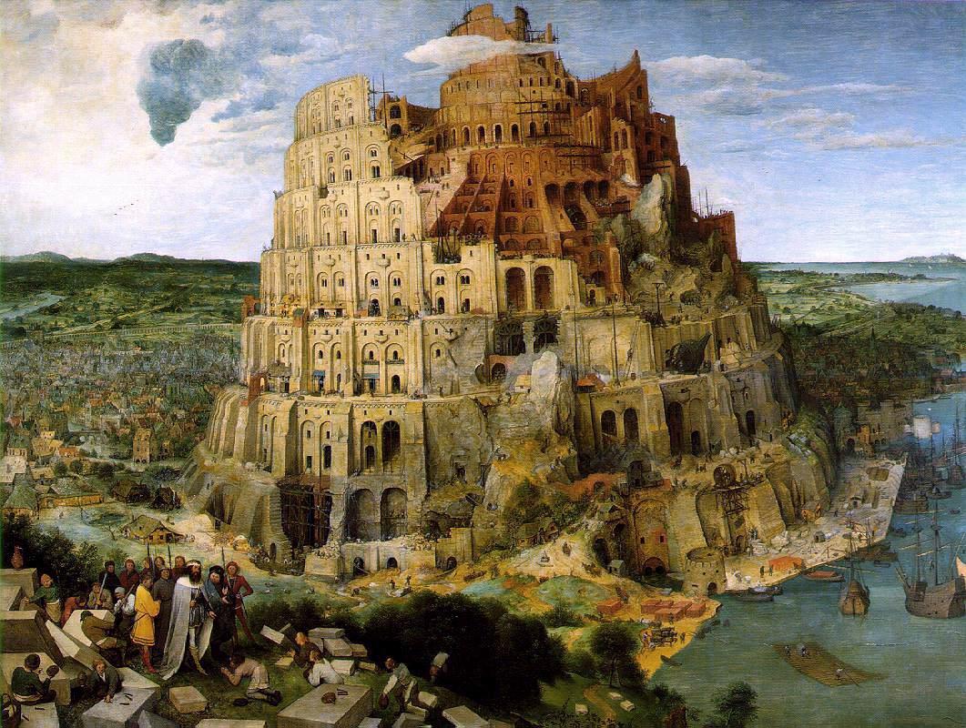 La tour de Babel selon Bruegel l'Ancien