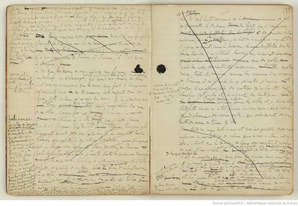 Manuscrit A la recherche du temps perdu, Marcel Proust