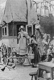 Yonville, le départ de l'Hirondelle