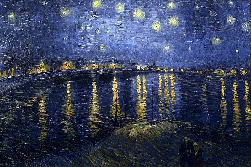 La nuit étoilée sur le Rhône, Van Gogh