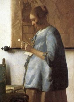 La femme en bleu lisant une lettre de Johannes Vermeer