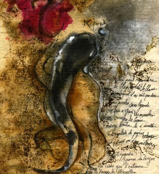 Feue la salamandre - Encres et aquarelles par Berce