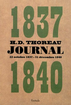 1837-1840, journal - Thoreau
