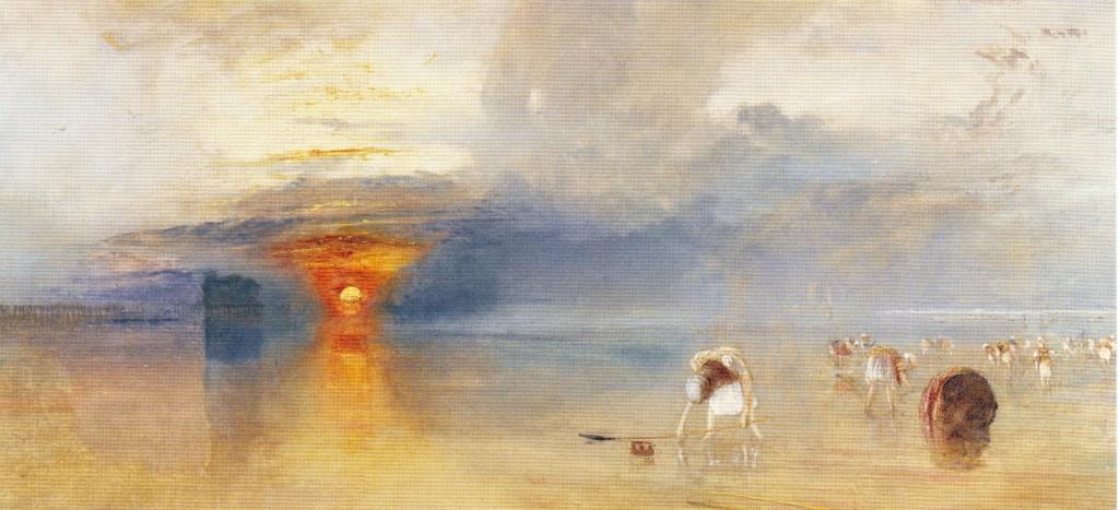 Plage de Calais à marée basse ; Joseph Mallord William Turner