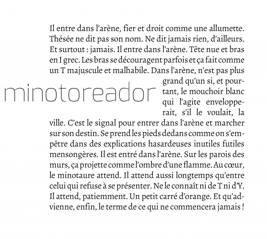 minotoreador - (c) Sébastien de Cornuaud-Marcheteau