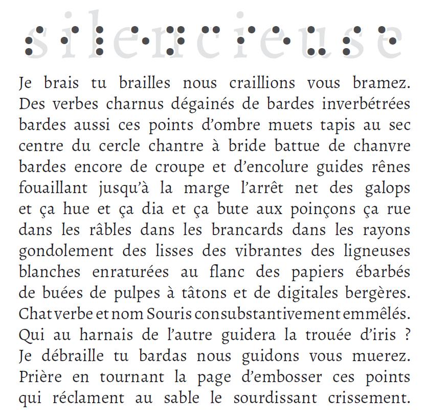 Silencieuse, Sébastien de Cornuaud-Marcheteau