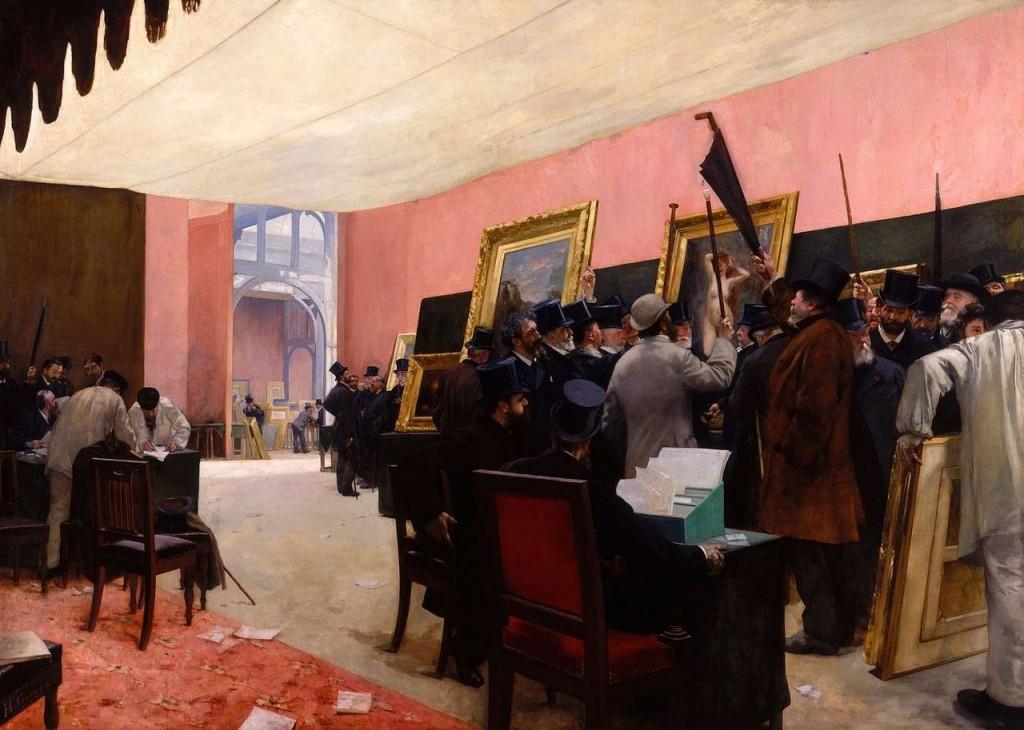 """""""Une Séance du jury de peinture"""" par Henri Gervex, 1885"""