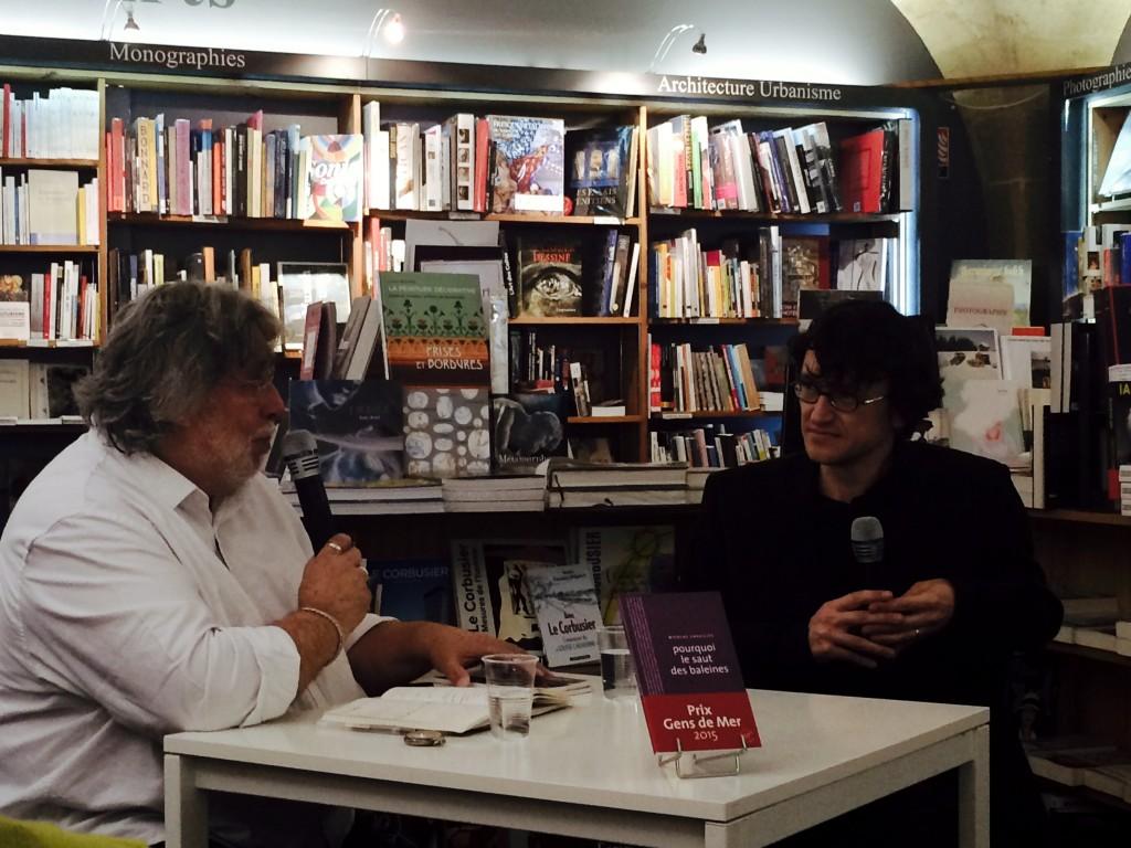 Claude Chambard et Nicolas Cavaillès à la Machine à Lire (Bordeaux) le 2 septembre 2015